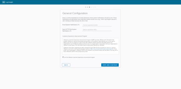 Log Insight - General Configuration