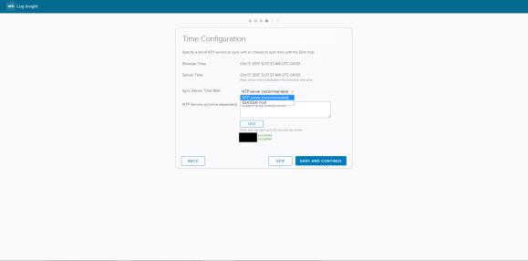 Log Insight - SMTP configuration