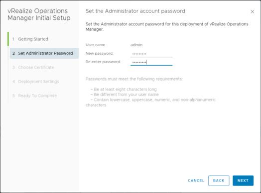 VROPS - Admin Account